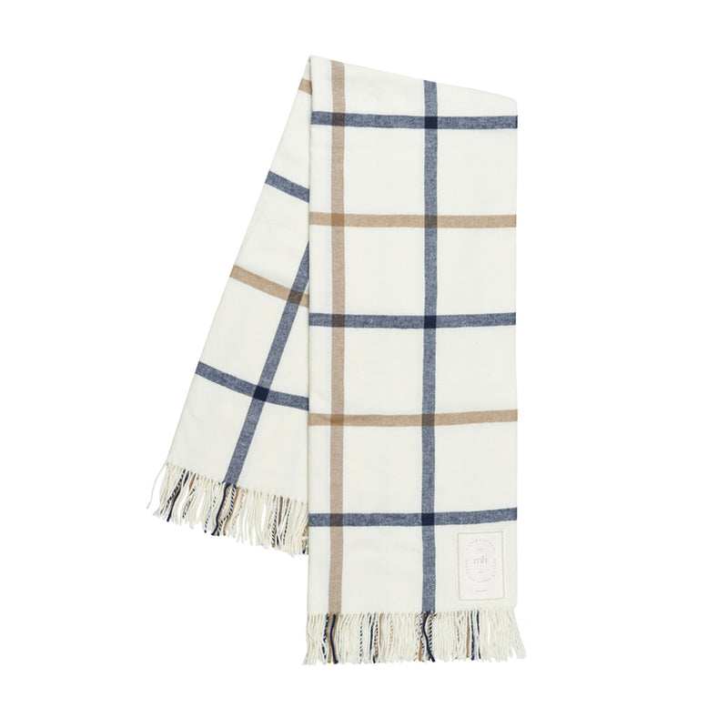MH Plaid Throw - Navy