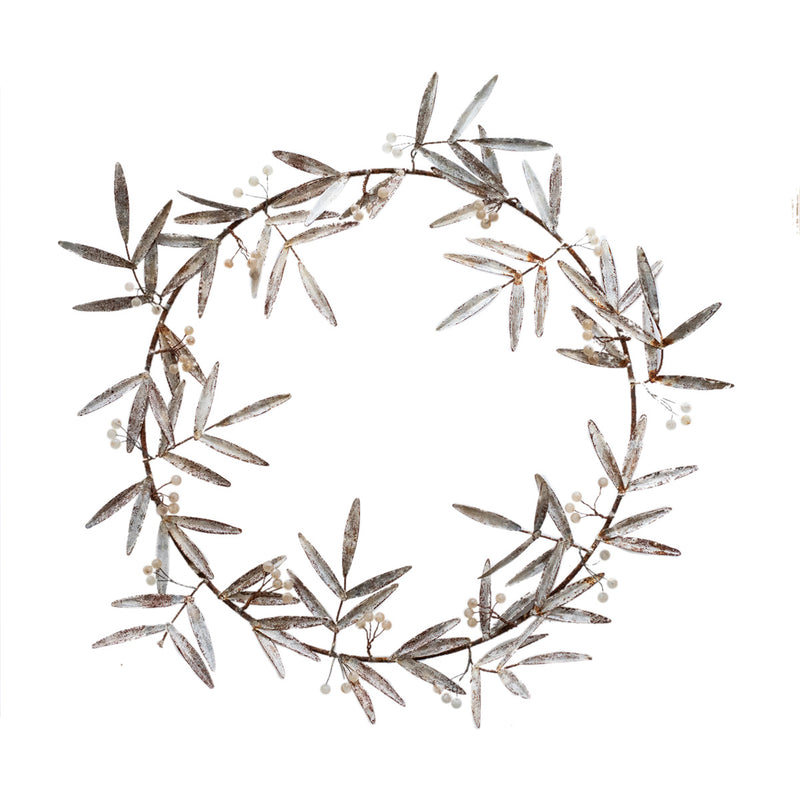 Metal Mistletoe Wreath