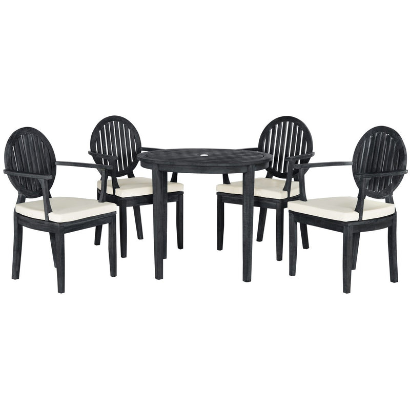 Charlie Patio Set - Dark Slate Grey