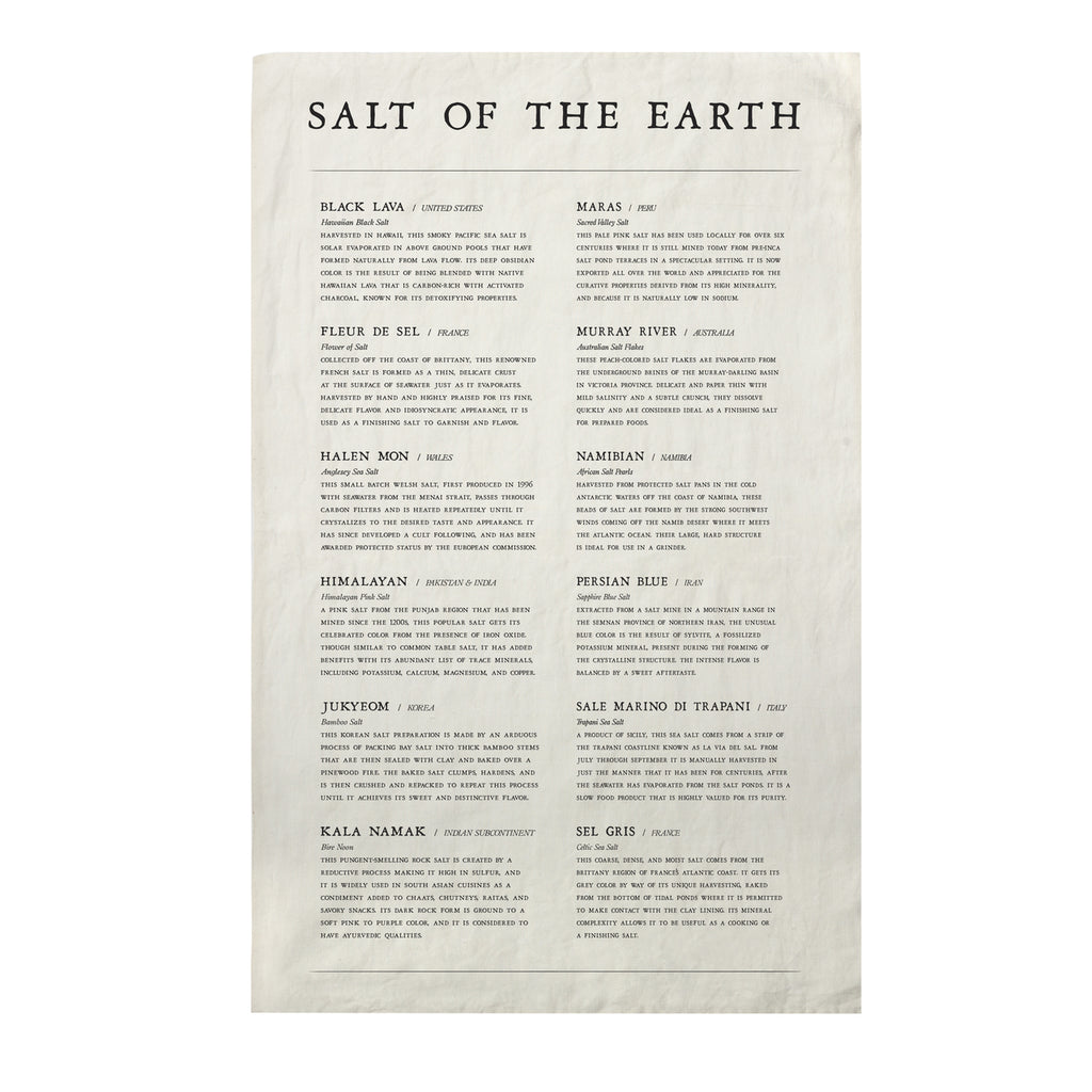 Salt of the Earth - Linen Tea Towel