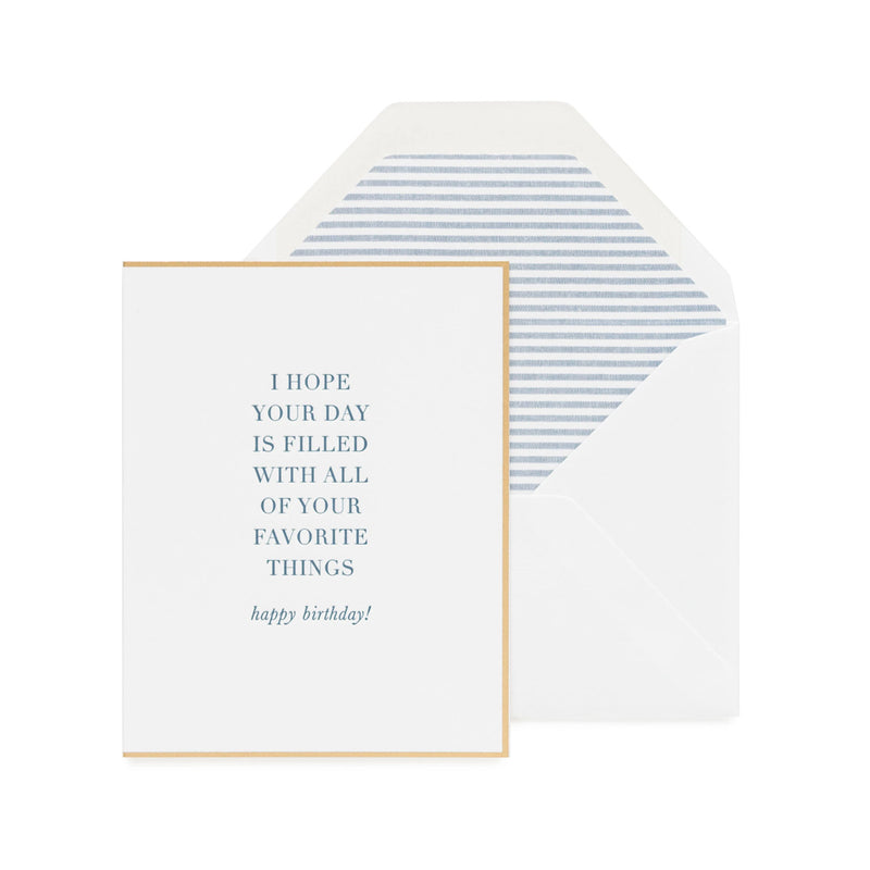 Greeting Card - Your Favorite Things