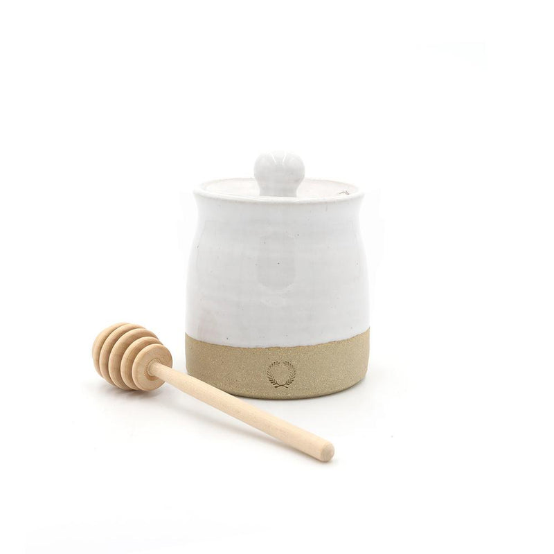 Beehive Honey Pot with Wooden Dipper