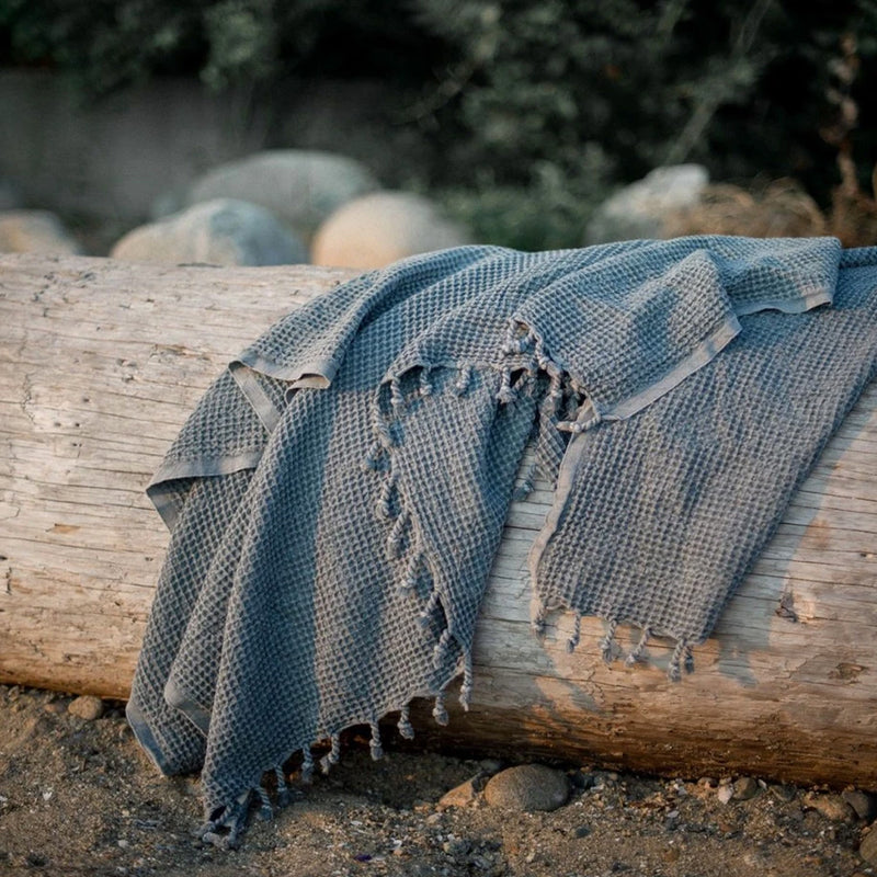 Denim Waffle Throw