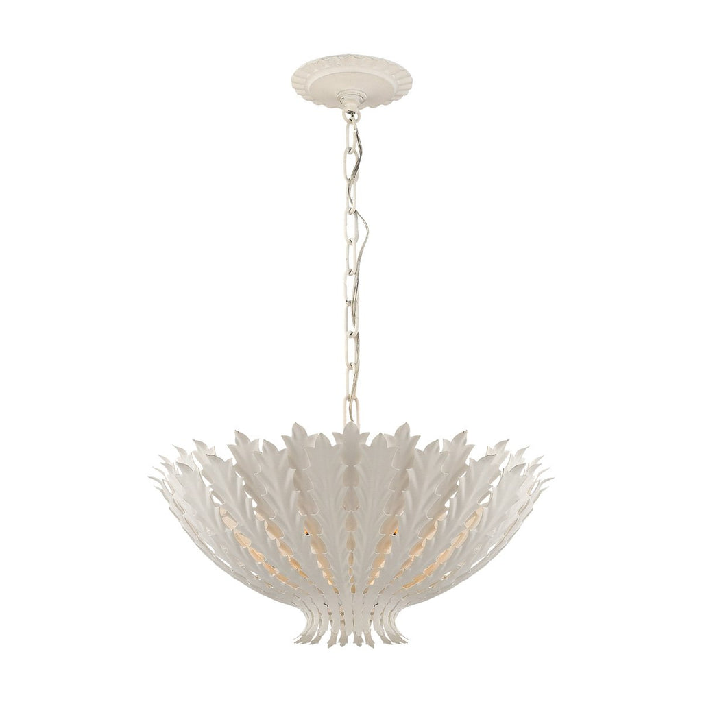 Hampton Chandelier in Plaster White
