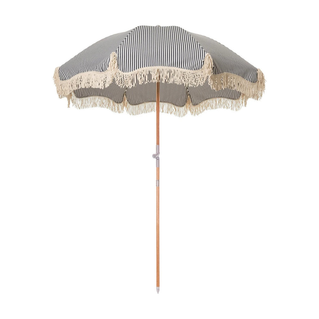 Premium Beach Umbrella - Navy Stripe