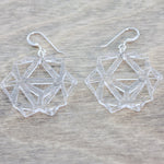 Clear Laser Cut Geometric Oridama Acrylic Earrings
