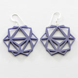 Purple Laser Cut Geometric Oridama Acrylic Earrings