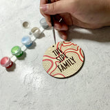 Personalized Wood Holiday Ornament DIY Paint Kit