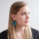 Turquoise Laser Cut Geometric Oridama Acrylic Earrings