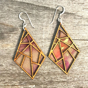 Hapa Mama Made Bamboo Diamond Earrings