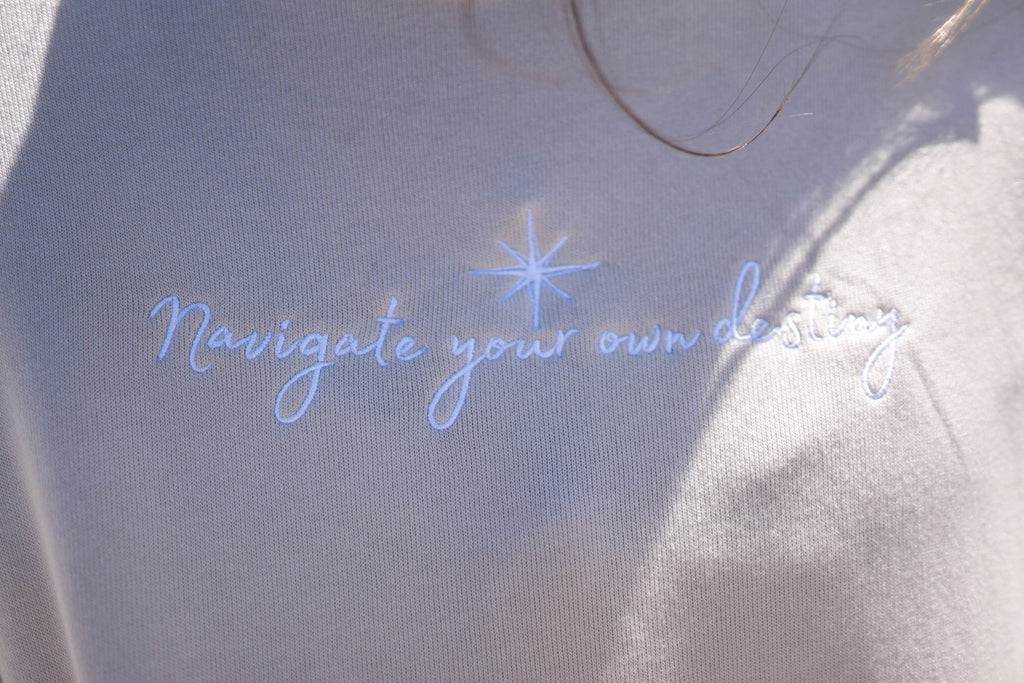 Navigate Your Destiny Cropped Hoodie