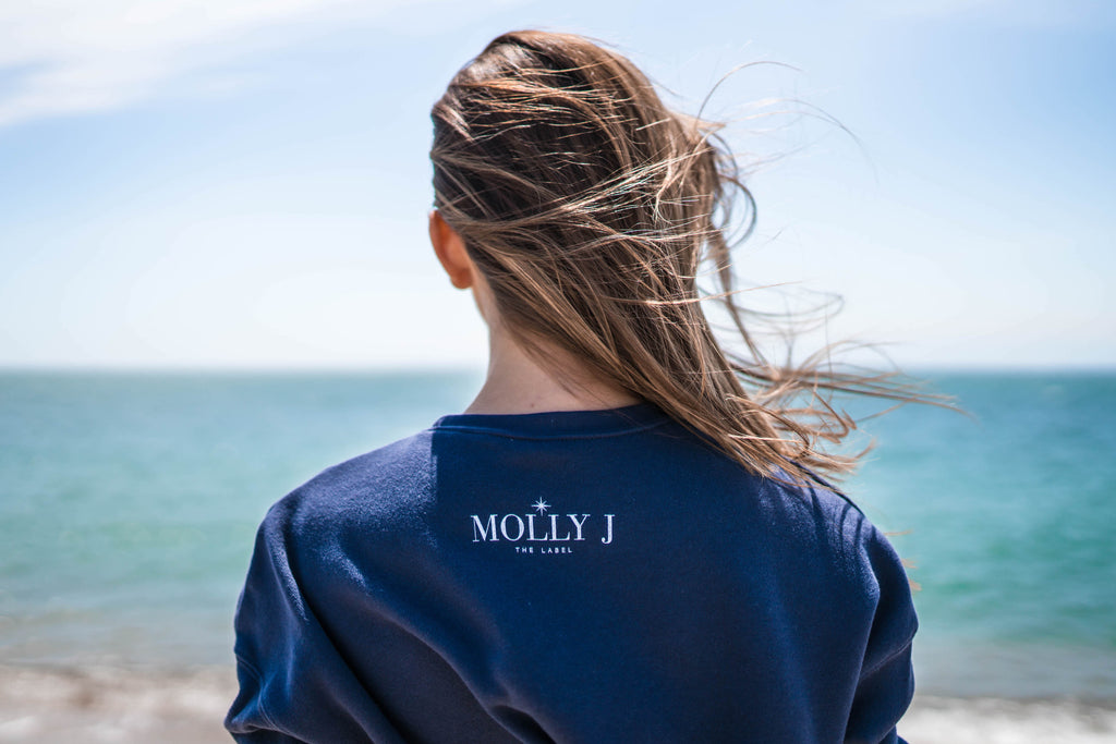 Navigate Your Destiny Cropped Crew - Navy