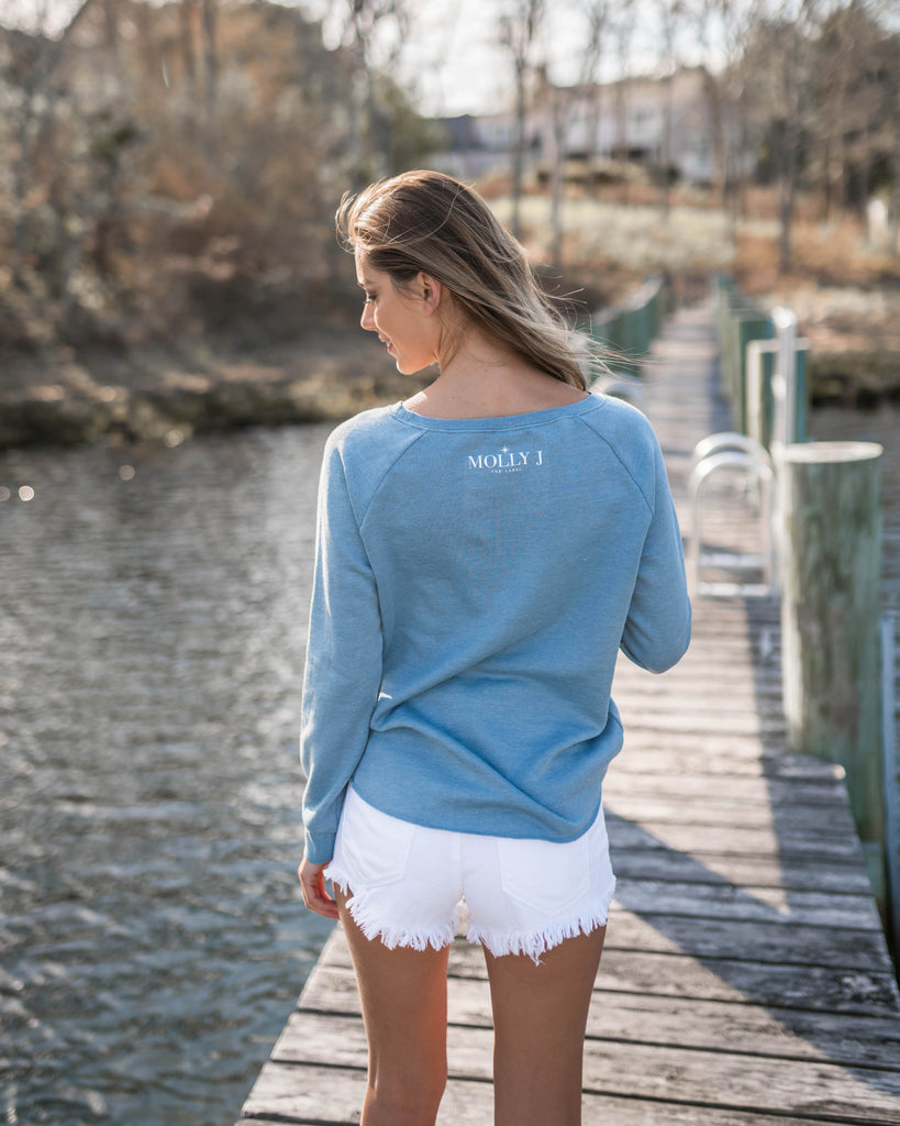 NAVIGATE YOUR DESTINY CREW NECK - SKY BLUE