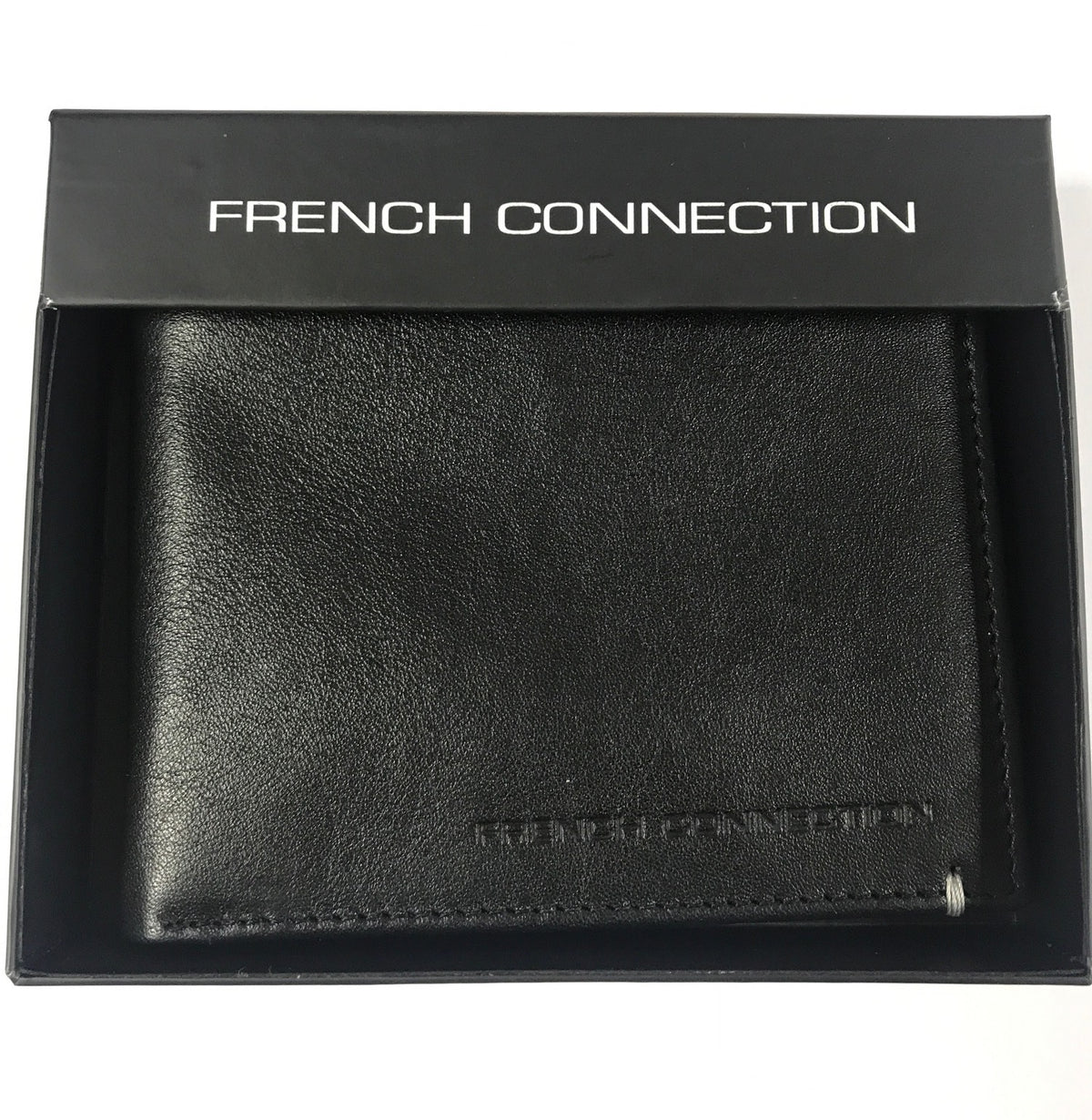French Connection Mens Black Wallet