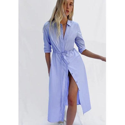 French Connection Rhodes Shirt Dress (Blue Tint)