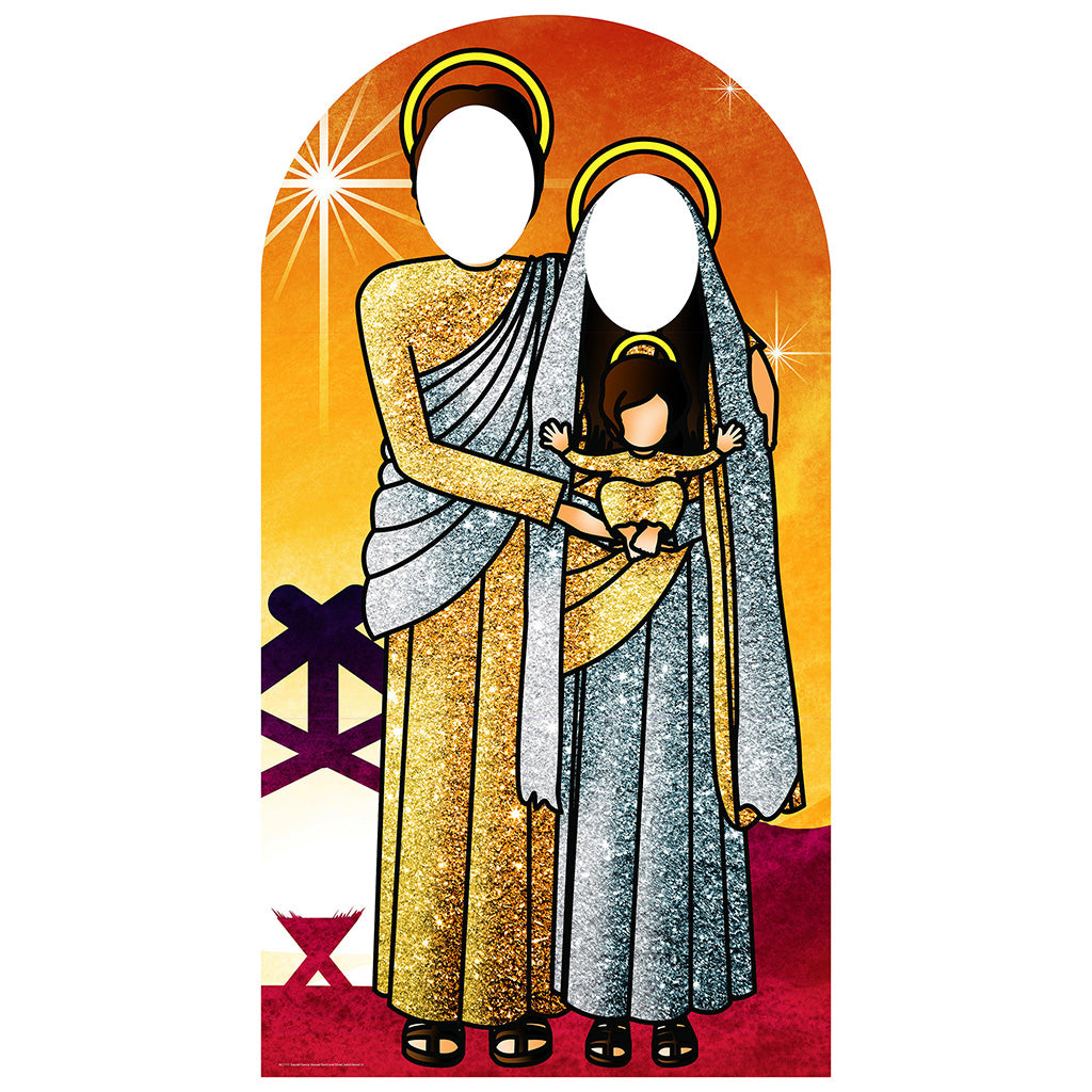 Sunset Gold-Silver Sacred Family Stand-In
