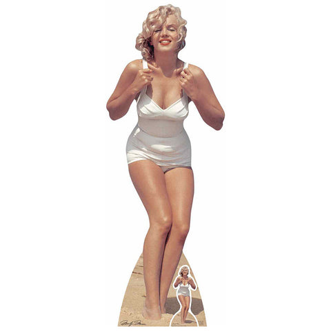 Marilyn Monroe White Swimsuit