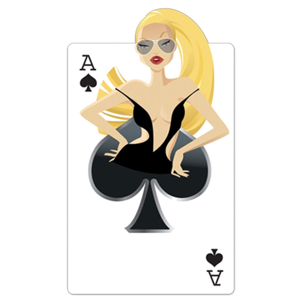 "Ace of Spades ""Babe"" Playing Card"