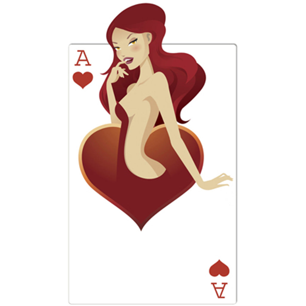 "Ace of Hearts ""Babe"" Playing Card"