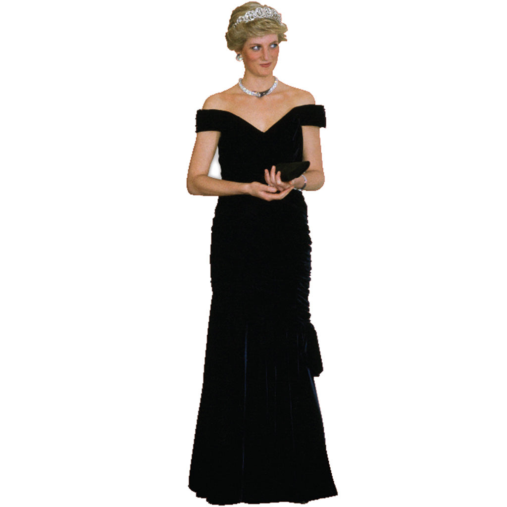 Princess Diana Black Gown