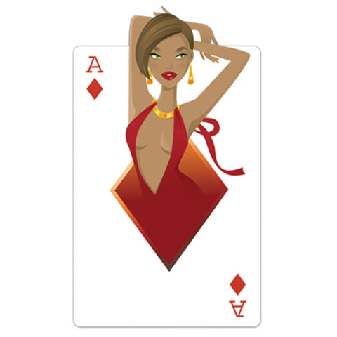 "Ace of Diamonds ""Babe"" Playing Card"