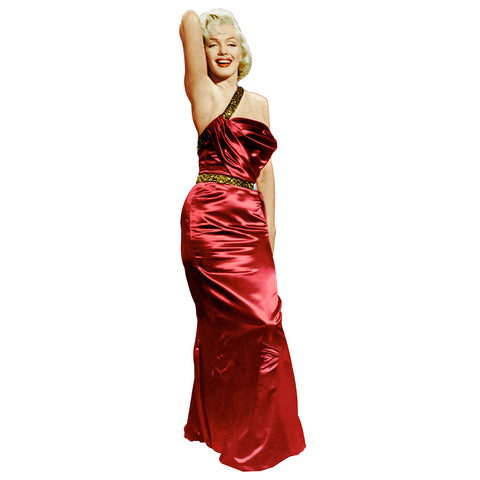 Marilyn Monroe Red Gown Millionaire
