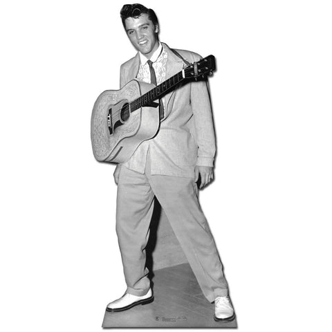Elvis with Guitar Around Neck