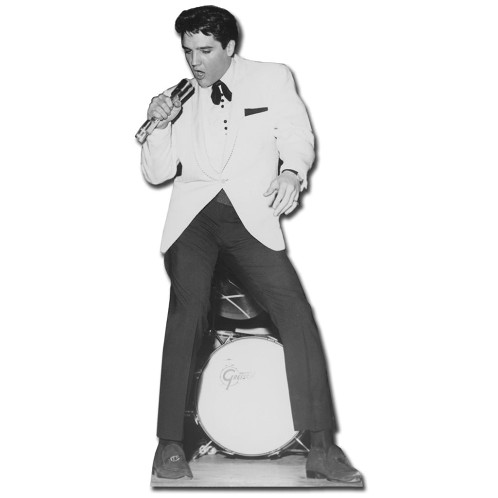 Elvis White Jacket with Drums