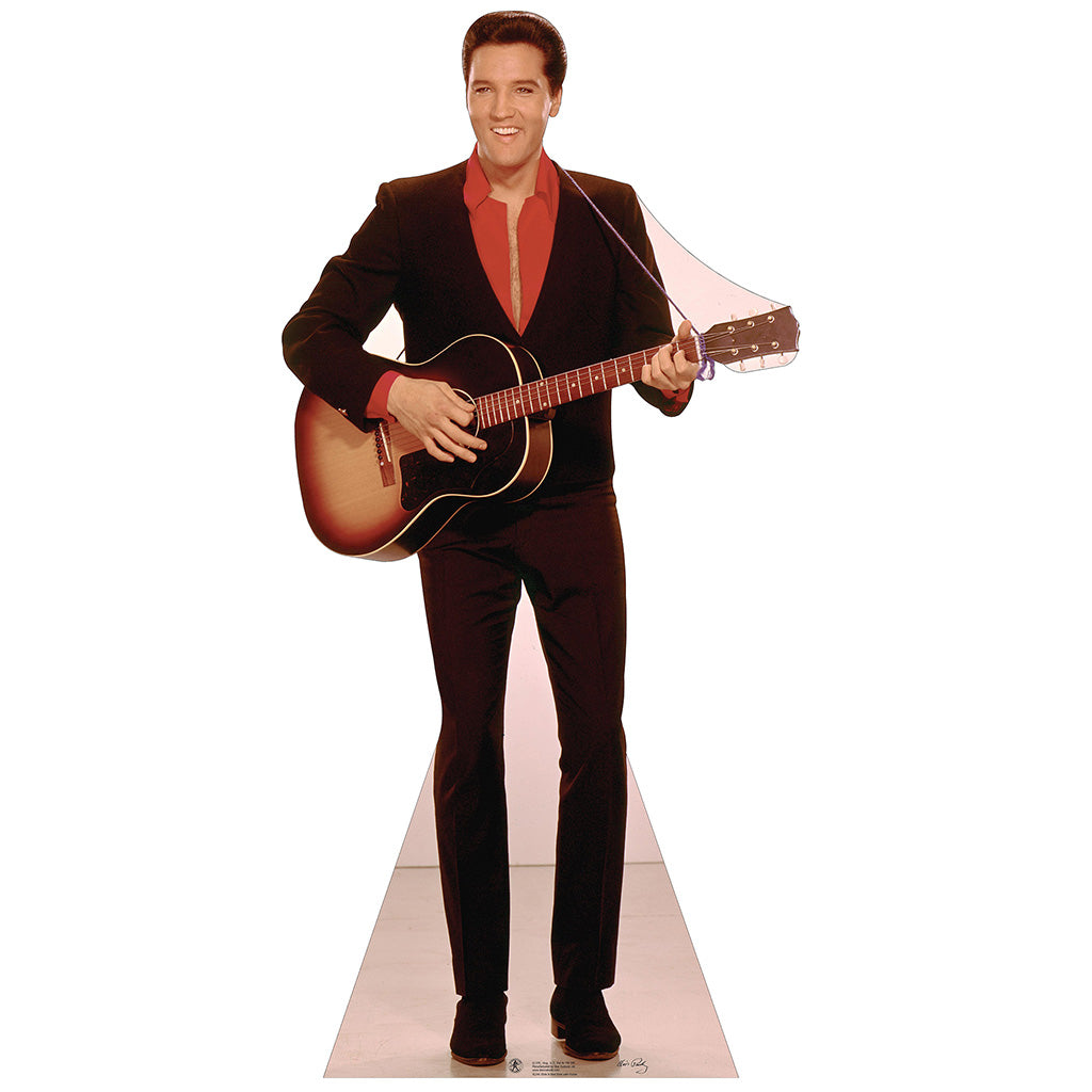 Elvis Red Shirt with Guitar
