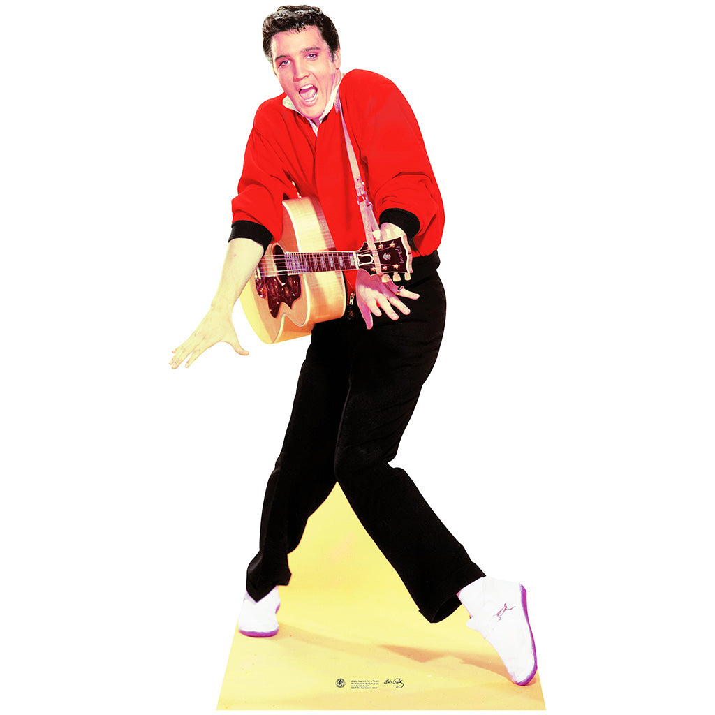 Elvis Red Jacket with Guitar