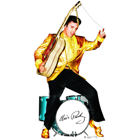 Elvis Gold Jacket and Drums