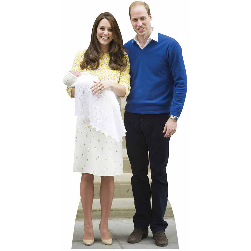 William, Kate and Baby Charlotte