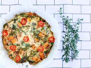 Christmas Roast Vegetable Frittata