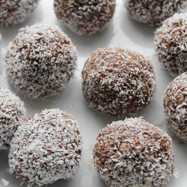 Chai Spiced Fig and Almond Protein Balls