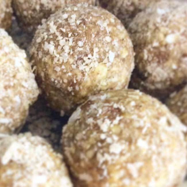 Green Carob and Banana Balls