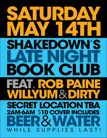 Shakedown's Late Night Book Club