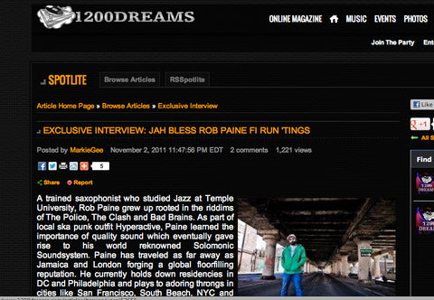 1200 Dreams interviews Rob Paine