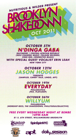 Brooklyn Shakedown October Schedule