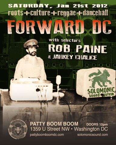 Forward DC - Solomonic Sound's monthly reggae residency @ Patty Boom Boom in DC