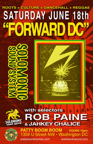 FORWARD DC! Solomonic's monthly @ Patty Boom Boom in DC