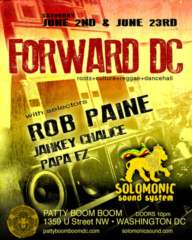 Forward DC- Solomonic Sound residency at Patty Boom Boom in DC