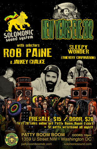 New Years Eve Bash w/ Solomonic Sound @ Patty Boom Boom in DC