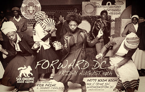 Forward DC - Solomonic Sound's residency at Patty Boom Boom