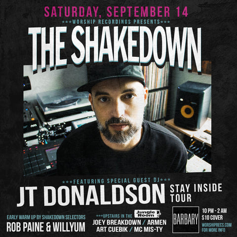 This Saturday 9-14 Shakedown!