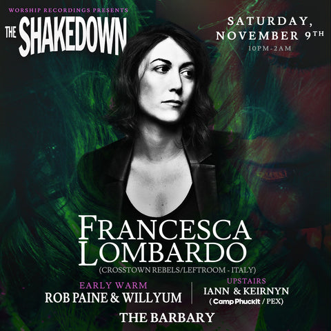 This Saturday November 9th Francesca Lombardo...