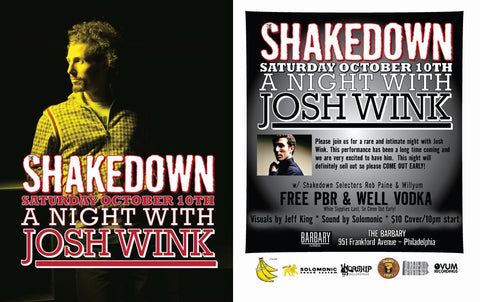 SHAKEDOWN 'A Night With Josh Wink'