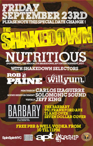 SHAKEDOWN with NUTRITIOUS