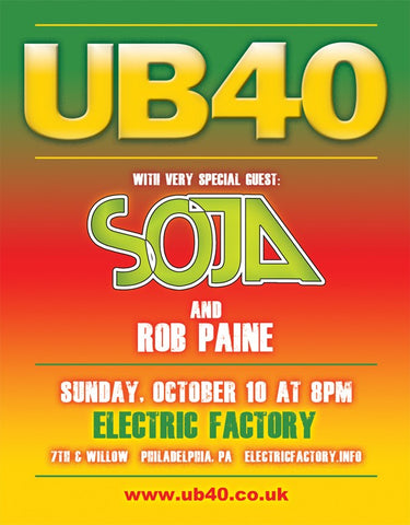 UB40, SOJA & Rob Paine @ Electric Factory