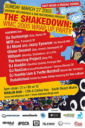 The Shakedown WMC 05 Wrap Up Party