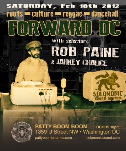Forward DC - Solomonic Sound monthly residency @ Patty Boom Boom